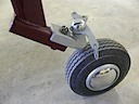 Tail wheel overhauled and painted