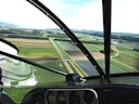 Turning final RWY 05 at LSGY